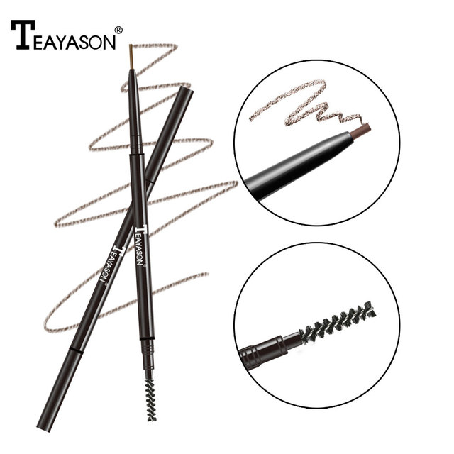 Dual ended automatic eyebrow pencil waterproof long lasting 1.5mm super slim head Microblading eyebrow tatto pen 2
