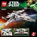 EN STOCK Lepin 05039 Genuino Serie Star UCS La x-wing Rebelde Rojo Cinco x-wing Starfighter Conjunto de Bloques de Construcción Ladrillos 10240
