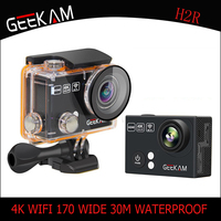 GEEKAM H2/H2R 4k HD Action camera for gopro hero 4 Stlye Full HD 4K 25FPS 1080P 30FPS Wifi Cam waterproof outdoor Sport camera