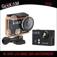 GEEKAM H2/H2R 4k HD Action camera for gopro hero 4 Stlye Full HD 4K 25FPS 1080P 30FPS Wifi Cam waterproof outdoor Sport camera