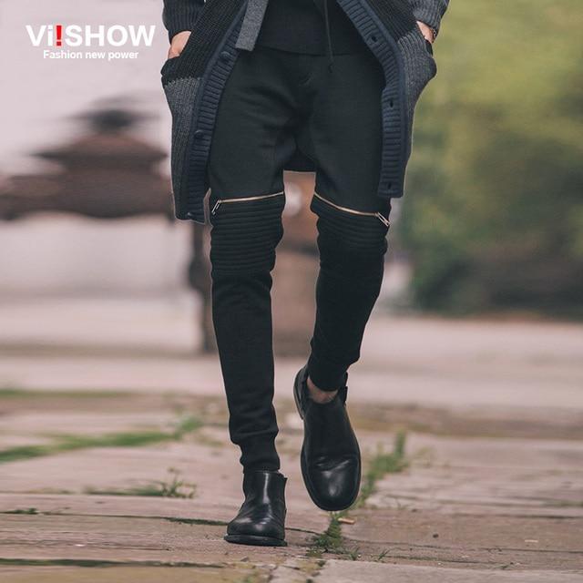 Viishow Mens Pants Autumn Pants Men Casual Cargo Pants Casual Slim Fitness Trousers Professional Body Building Sweatpant K139653