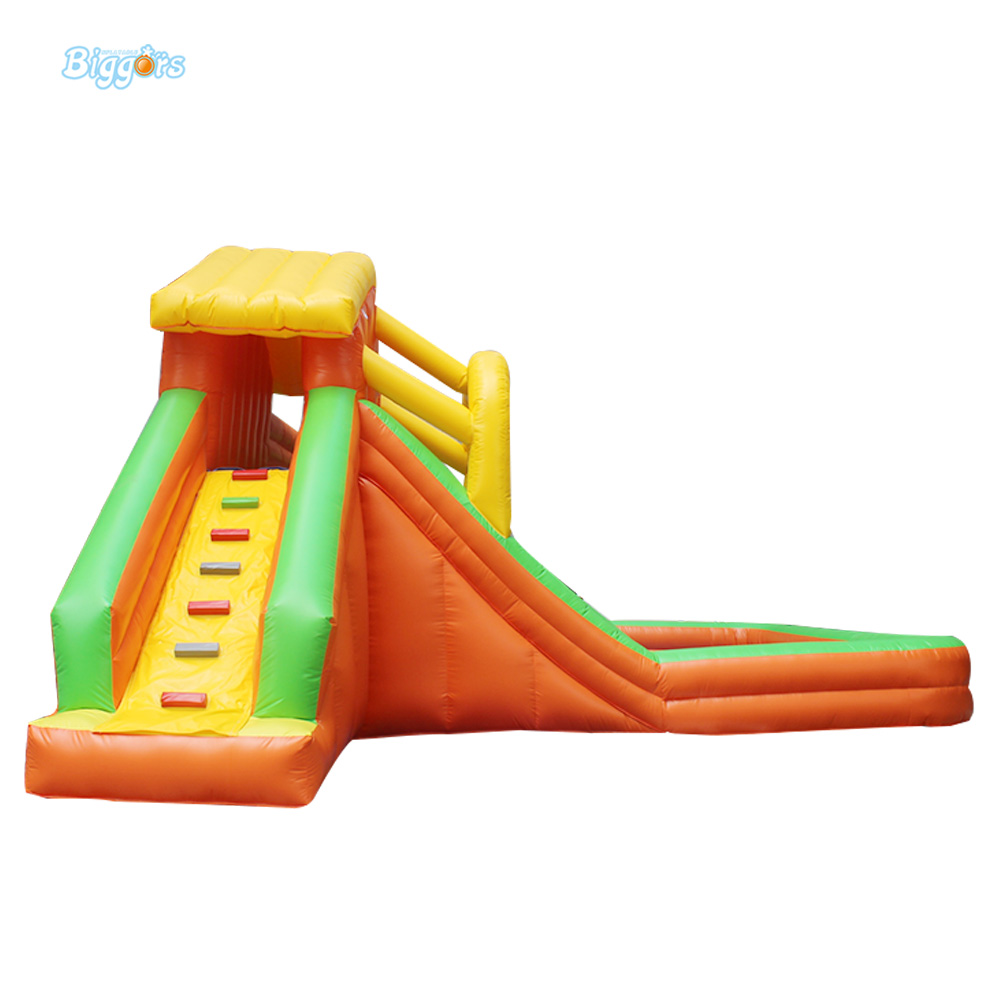 Biggors PVC Tarpaulin Kids Inflatable Water Slide From China commercial inflatable water slide with pool made of pvc tarpaulin from guangzhou inflatable manufacturer