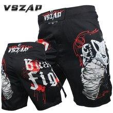 d6661cce VSZAP UFC MMA shorts BUILT 2 FIGHT mma fight mixed shorts fist fight male  fitness kick muay thai short kickboxing fight