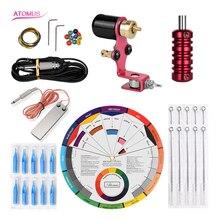 Tattoo Tip Power Supply Tatto Machine Kit Pedal Tools Maquina De Tatuagem Rotary Equipamento Tatoo Kits Set