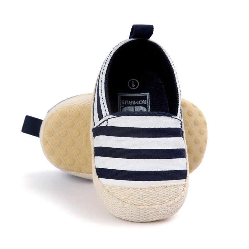 Newborn Baby Boy Striped Shoes Lovely Infant First Walkers Good Soft Sole Toddler Baby Shoes New