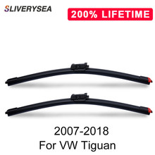 SLIVERYSEA Replace Wiper Blade for Tiguan 2007-2018 Silicone Rubber Windshield Windscreen Auto Car Accessories