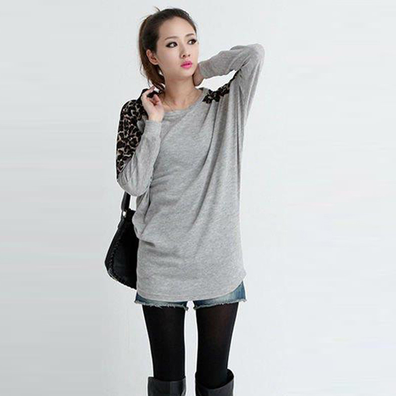 2015 Fashion Women's Sweaters Fashion Leopard Printed Pullovers  Freeshipping  1507