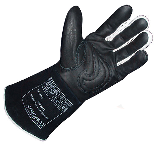 Black SOFTouch Argon arc Welding Glove TIG MIG MMA Grain Cow Leather Welding Work Gloves