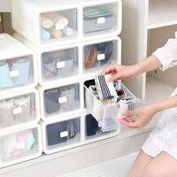 Bra Underwear Organizer Plastic Drawer Wardrobe Home Storage Box Closet Wear Organizer Finishing Boxes For Scarfs Socks Bra Boxs