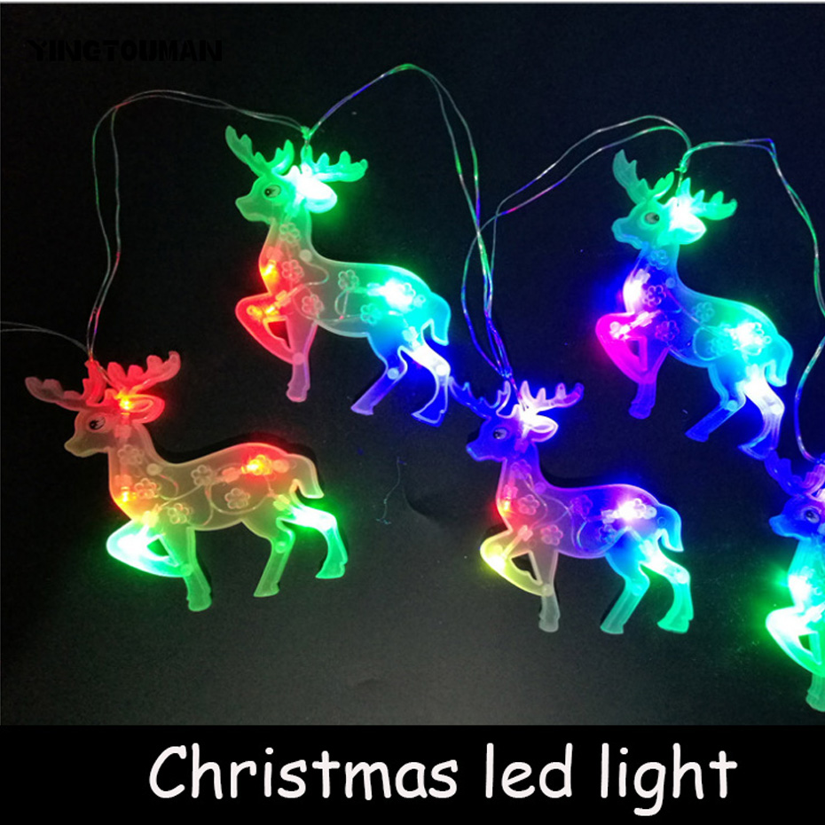 YINGTOUMAN SELL LED Plug Holiday String Lighting Colors Christmas Lights Party Outdoor Decoration LED Elk String Light 3m