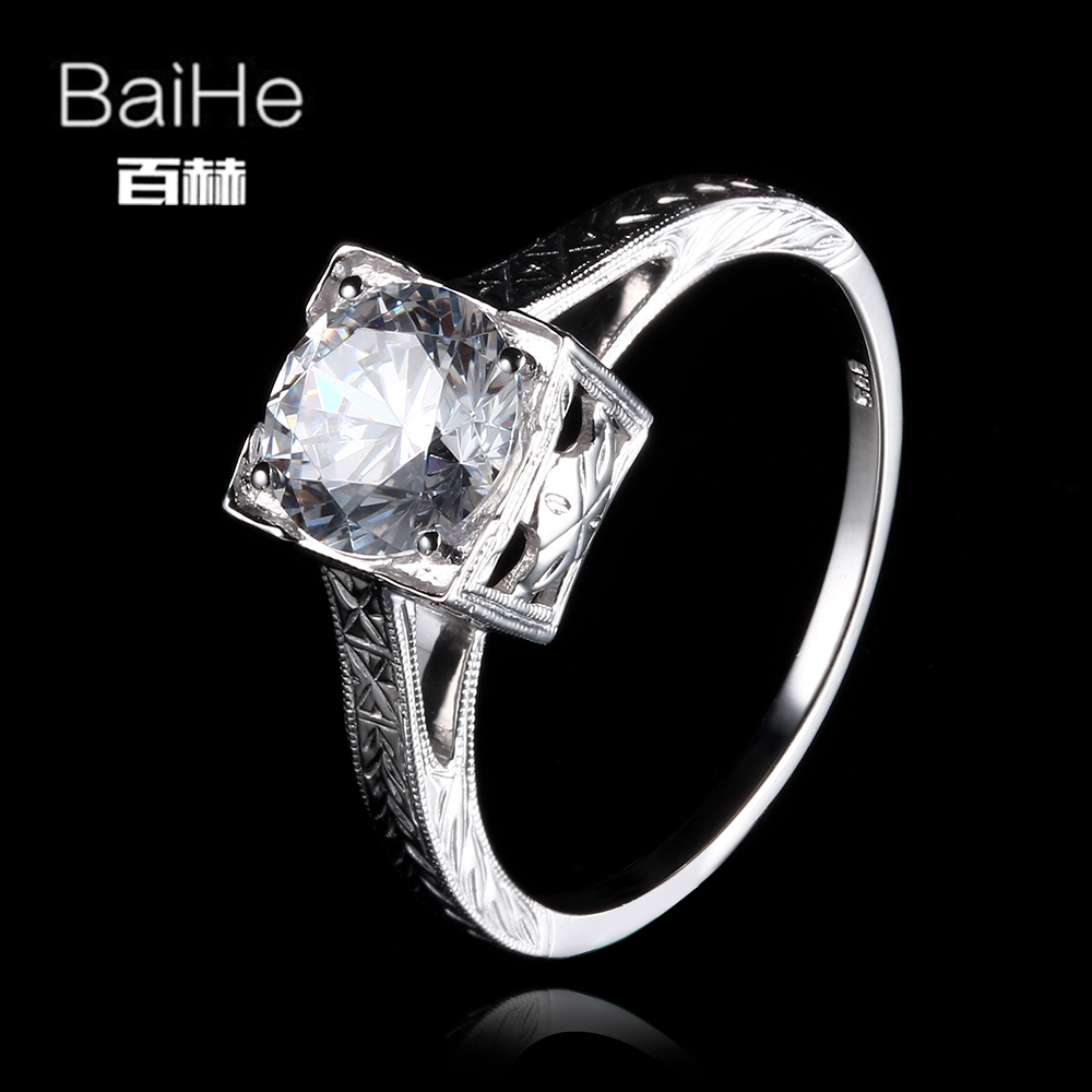 BAIHE Solid 14K White Gold(AU585)1.77CT Certified Genuine AAA Graded Cubic Zirconia/Flawless circular Wedding Women Trendy Ring BAIHE Solid 14K White Gold(AU585)1.77CT Certified Genuine AAA Graded Cubic Zirconia/Flawless circular Wedding Women Trendy Ring