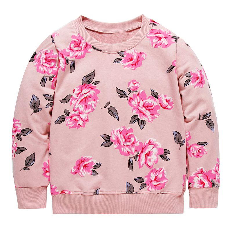 все цены на Girls Sweatshirt for Kids Winter Clothes Baby Hoodies&Sweatshirts Floral Animal Applique Toddler Girls Hoodies Children Pullover