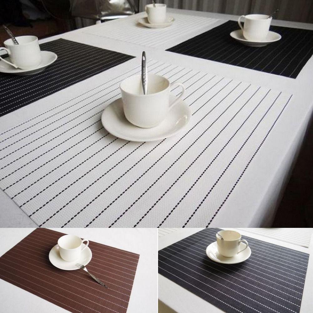 4pcs Fashion Bowl Placemats Kitchen Dining Room Pad