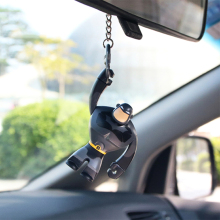 Car Ornament Pendant Fashion Batman Cartoon Auto Interior Rearview Mirror Hanging Dashboard Key Deco