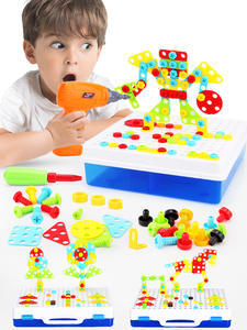 Toys Blocks Assembly Screwing Educational-Toy Electric-Drill Puzzle-Design Kids Boys