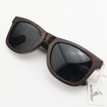 BOBO BIRD AG005a gafas de sol de madera de ébano hechas a mano, para mujeres y hombres, diseño de marca Vintage, a la moda, lentes polarizadas grises, se acepta OEM
