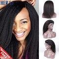 Итальянский яки парик Glueless полные парики яки перед парики для чернокожих женщин, Фронта человеческих волос парики натуральных волос