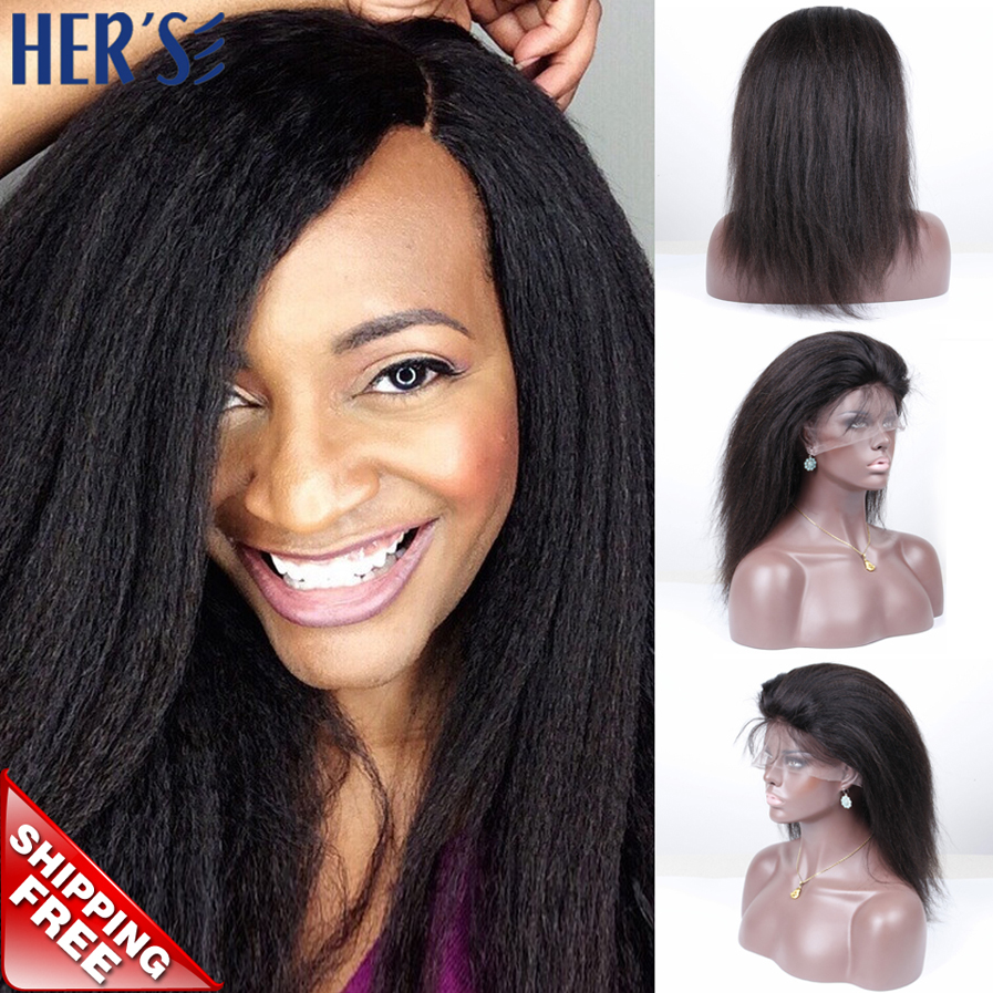 Italian Yaki Full Lace Wig Glueless Full Lace Wigs Yaki Lace Front Wigs For  Black Women 03ce99e4a6