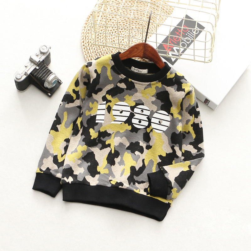 T-Shirts For Boys Girls Camouflage Cotton Kids Top Long Sleeve Toddler Pullover Clothes Digital Print T-Shirt Children Clothing (6)