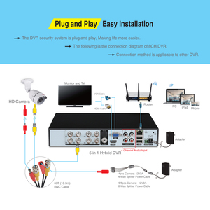 Image 4 - Tonton 8CH CCTV Camera Security System Kit 720P 1080N DVR Waterproof Outdoor Security Camera Home Security Video Surveillance