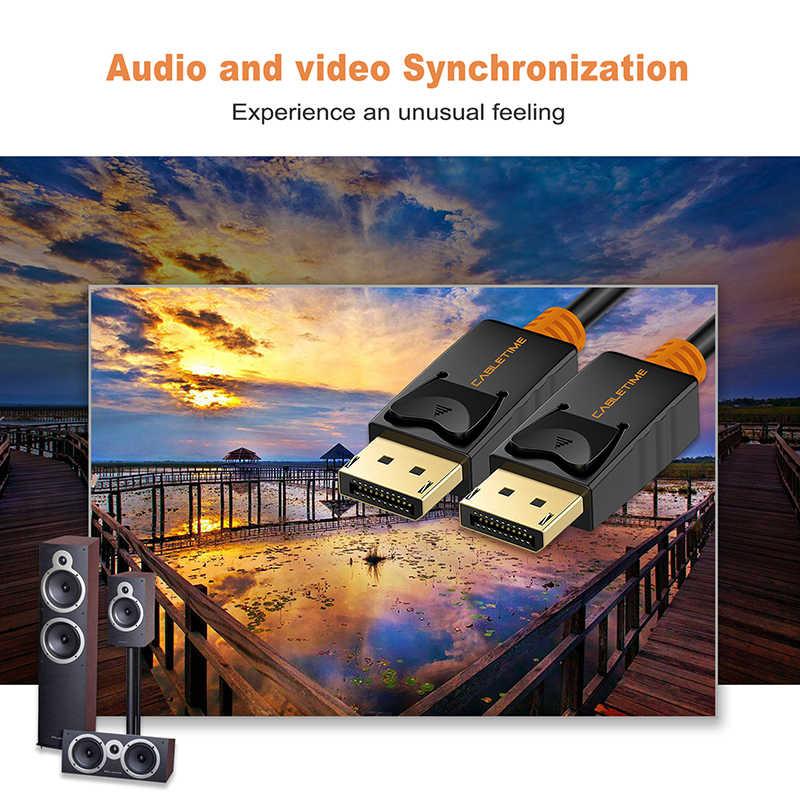كابل ديسبلايبورت كابل 4K 60hz DP إلى DP كابل محول كهربائي مزدوج الفتحة الحبل 1.2 فيديو الصوت 2 متر ل HDTV العارض الكمبيوتر N079