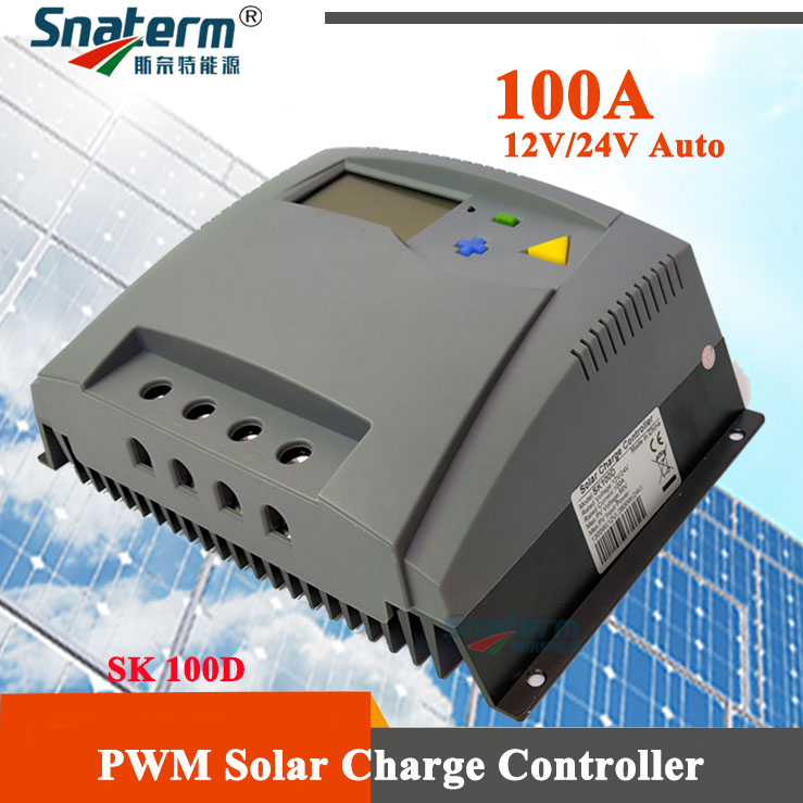 100A PV Solar Regulators Solar PV Battery Charger 12V 24V auto 100A PWM LCD PV Solar