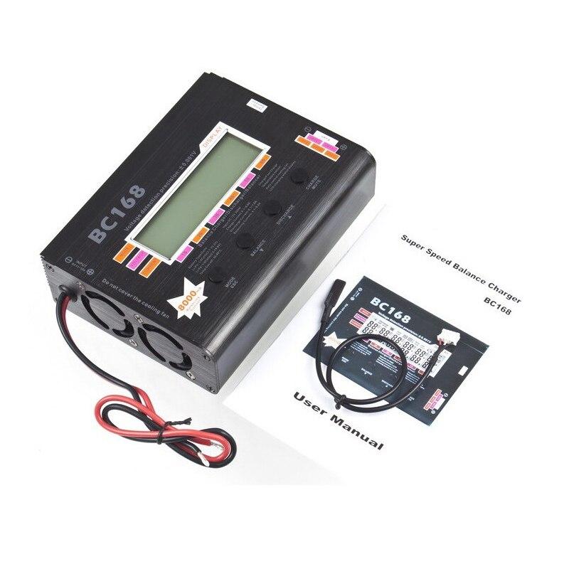 1 pcs AOK BC168 1-6 S 8A 200 W Super Speed LCD Intellective Balance Charger/Descarregador rc helicóptero parte Dropship