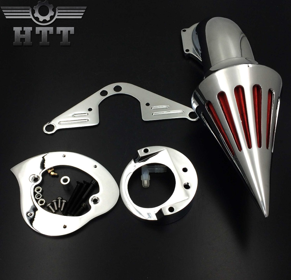 Aftermarket Motorcycle Parts Spike Air Cleaner Intake For Yamah Road Star 1600 XV1600A 1700 XV1700 BLACK 1999-2012 aftermarket motorcycle parts spike air cleaner kits intake filter for honda shadow 600 vlx600 1999 2012 chromed