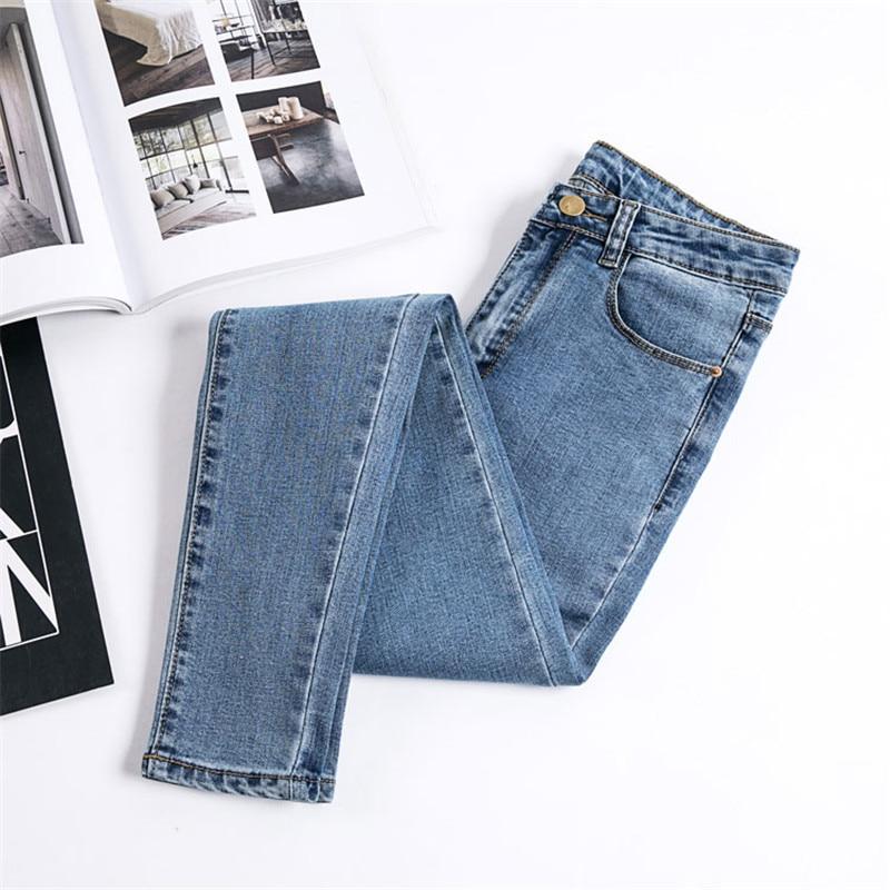 JUJULAND Jeans Female Denim Pants Black Color Women's Jeans Donna Stretch Bottoms Skinny Pants For Women Trousers 8175 5