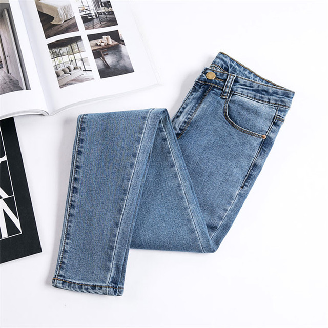 Jeans Female Denim Pants Black Color Womens Jeans Donna Stretch Bottoms Skinny Pants For Women Trousers  4