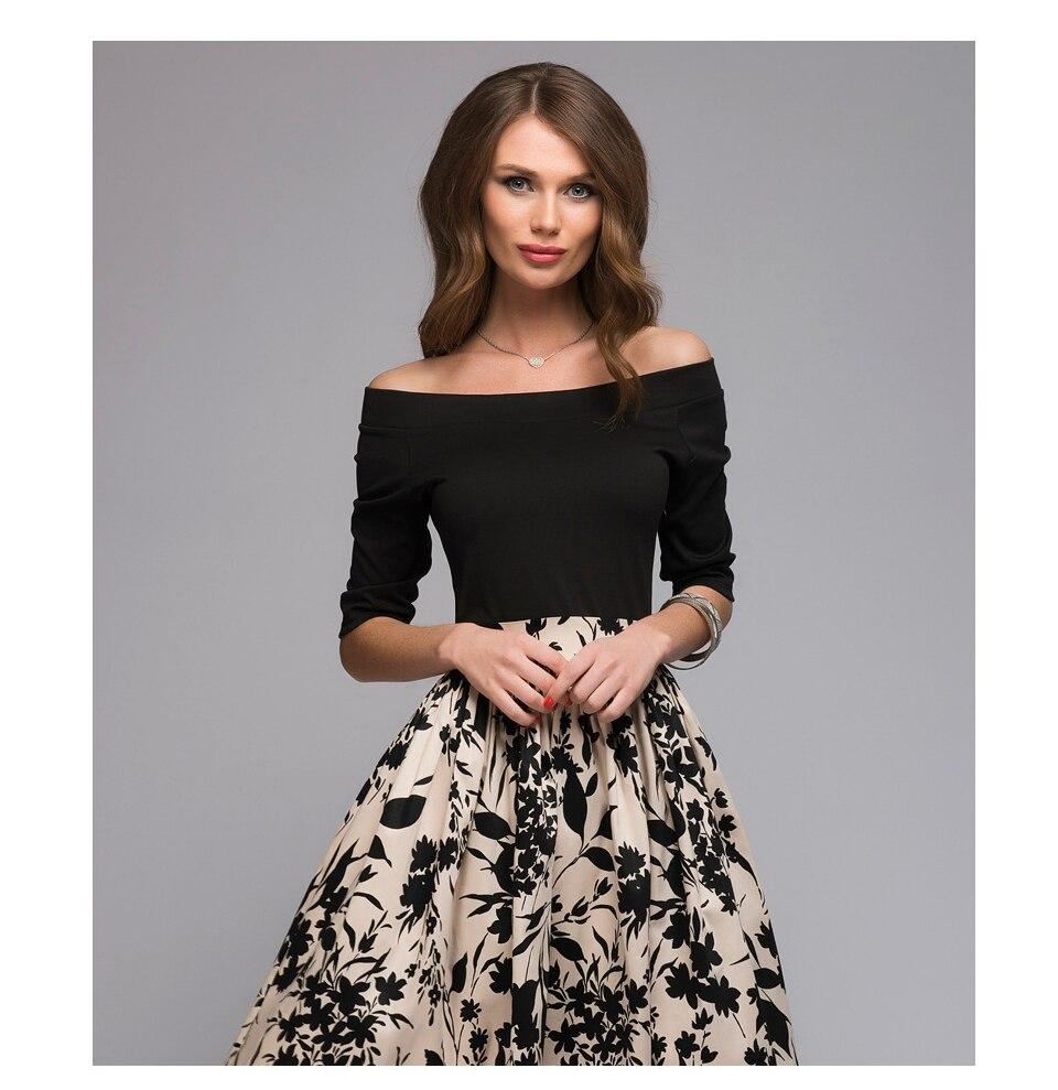 9ee72bc5cee7f5 S.FLAVOR Summer autumn Floral Print Patchwork Dress Women Off ...