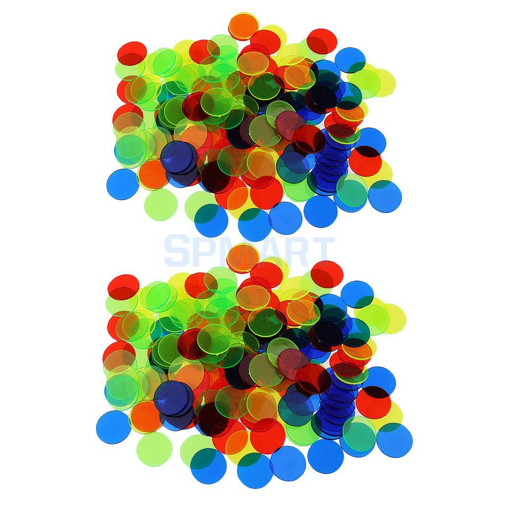 200Pcs Kunststoff 19mm 3/4 Zoll Bingo Chips Marker für Bingo Spiel Poker Karten Kinder Kinder Zähler Math Spielzeug schule Liefert