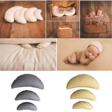 3 PCS / Set PU Былғары Baby Фотосуреттер Костюм Ай Позируемые Балалар Жастық Туған Фотография