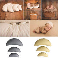 3 PCS Set PU Leather Baby Photography Costume Moon Posing Props Baby Pillows Newborn Photography Props
