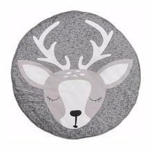 Swaddle Blanket Baby Blanket Crawling Play Mat deer Print Newborn Infant Sleeping Mat Cotton Padded Baby Climbing Carpet