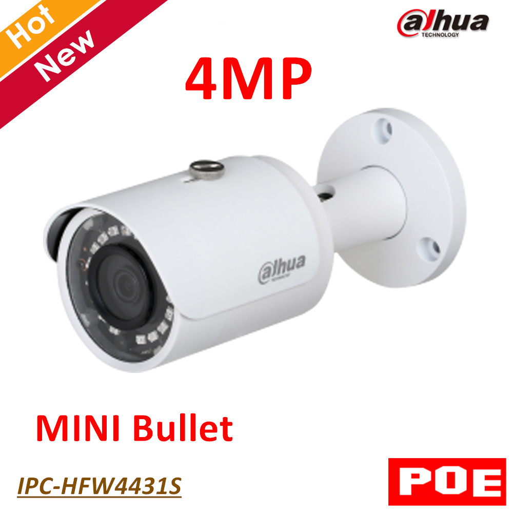 Dahua POE 4MP WDR IR Mini Bullet Network IP Camera Indoor Outdoor IP67 Support Smart Detection Metal case free shipping outdoor waterproof white metal case 1080p bullet poe ip camera with ir led for day