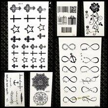 Sex Products Temporary Tattoo For Man Woman GYF-001 Small Cross Design Waterproof Tattoo Stickers Makeup Maquiagem Finger Cute