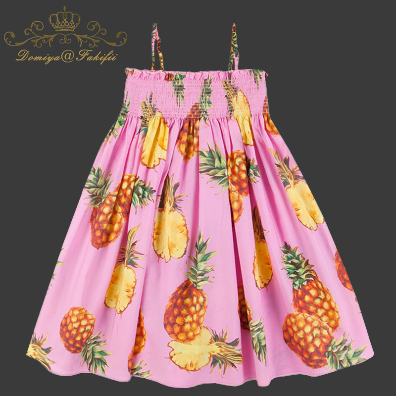 2 Year Baby Girl Summer Cute Pineapple Princess Birthday Party Beach Dress 2018 Kids Clothes Children Fancy Dresses For Weddings baby girl party dress 2018 summer white party princess elegant 3 year birthday dresses tutu for weddings vestidos baby clothing