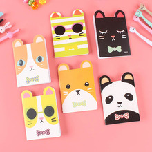 5PCS Kawaii Korean Creative Stationery Notepad office&school supplies Cartoon Animals Notebook Diary Stationery  for school joudoo cute panda notepad cartoon diary journal planner bullet mini notebook korean stationery office school supplies