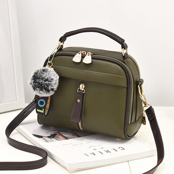 Green Leather Ball Toy Bag