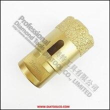 Dia35mmx15mm Вакуумные паяные алмазного бурения бит для гранита и мрамора Резьбой M14 сверла, алмазная пила отверстия
