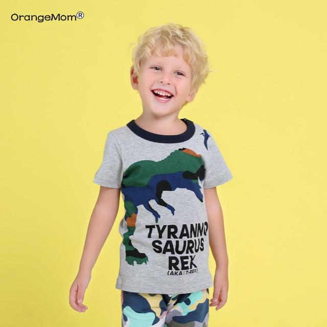 new 2019 Summe children's wear Korean version boy short sleeve dinosaur T-shirt for boys cotton child top baby half-sleeved tops