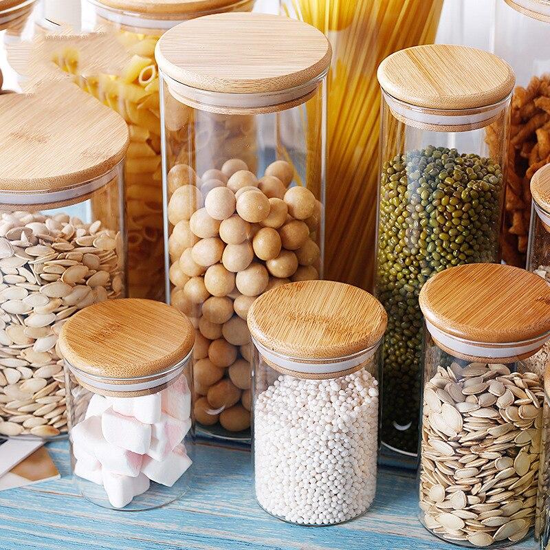 메이슨 캔디 항아리 향신료 유리 투명한 컨테이너 유리 항아리 뚜껑 쿠키 항아리 주방 항아리와 뚜껑 작은 크기 도매