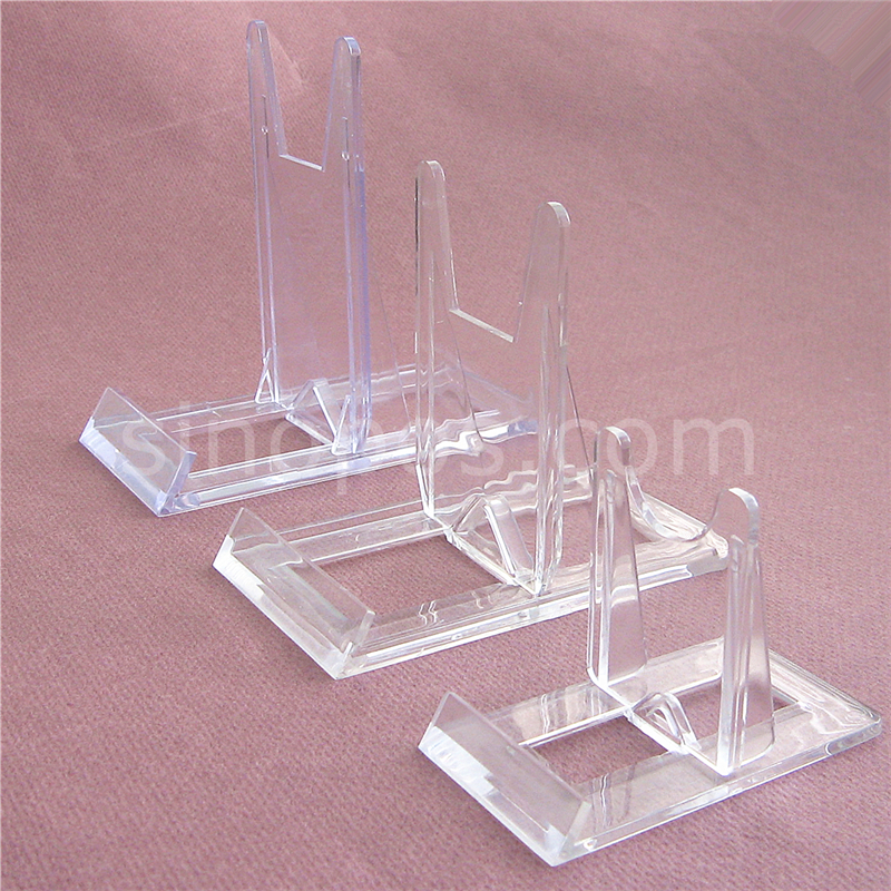 Clear Movable Display Easel Plate Tray Dish Ceramics
