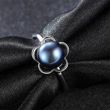 925 rings Freshwater Pearl Creative Rings for Women Vintage flower Jewelry Adjustable silver ring 925ring wedding gift