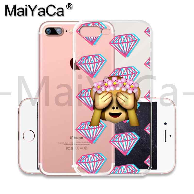 MaiYaCa Горячая сетка смешной смайлик-обезьянка Новый Модный Роскошный чехол для телефона iPhone 8 7 6 6 S Plus X 10 5 5S SE XR XS MAX мобильный чехол