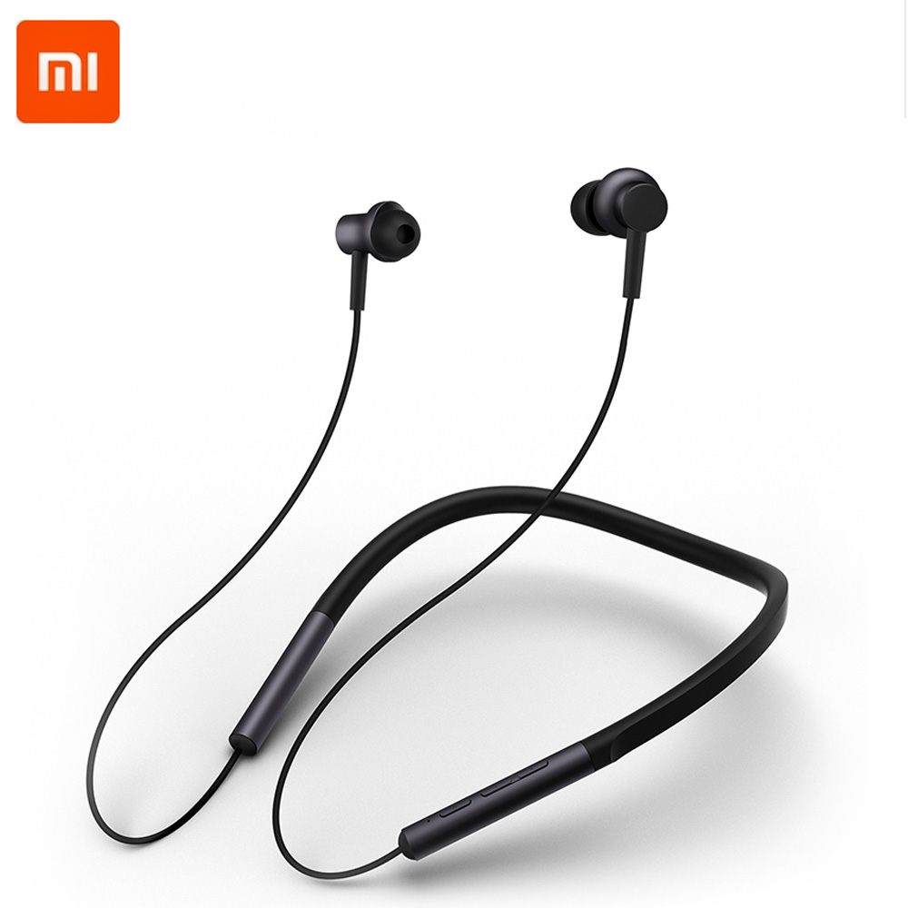 Xiaomi Bluetooth Collar Earphones Headset Sport Wireless Bluetooth Headphone In-Ear Magnetic Mic Play Dual Dynamic Headphone