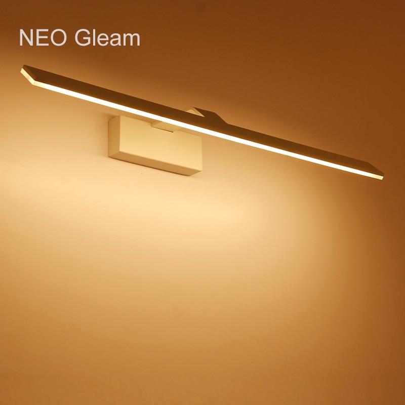 US $48.0 20% OFF NEO Gleam Moderne led wandleuchten schminktisch Spiegel  wandleuchte Badezimmer Weiß AC85 265V spiegel wandleuchte leuchte  Leuchten-in ...