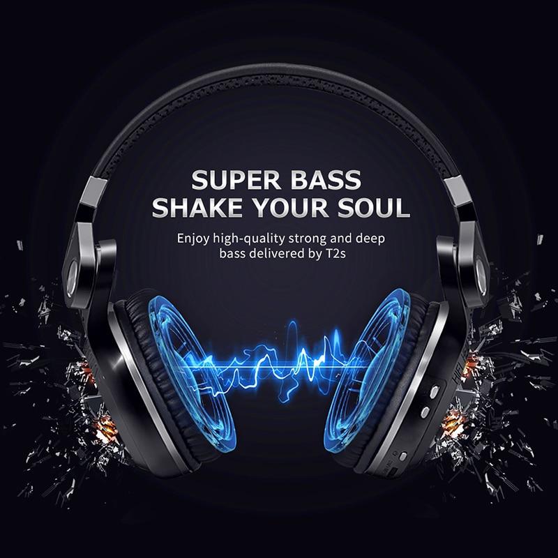 Bluedio T2S Wireless Headphone Bluetooth Headphones With Microphone Wireless Headset Fodable For Iphone Samsung Xiaomi Headphone
