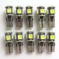 Оптовая 10 шт. T10 5-5050 SMD LED Ошибка Бесплатно Canbus W5W 194 168 2825 Белый Свет Лампы Для европейские Автомобили